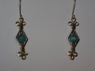 E-12 14 carat gold filled wire with amazonite and 14 carat gold beads $25.jpg
