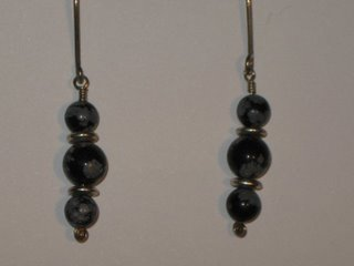 E-18 sterling silver wire with snowflake obsidian and sterling silver beads $12.jpg