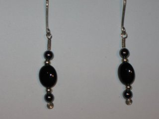 E-20 sterling silver wire with hematite, onyx, and sterling silver beads $12.jpg